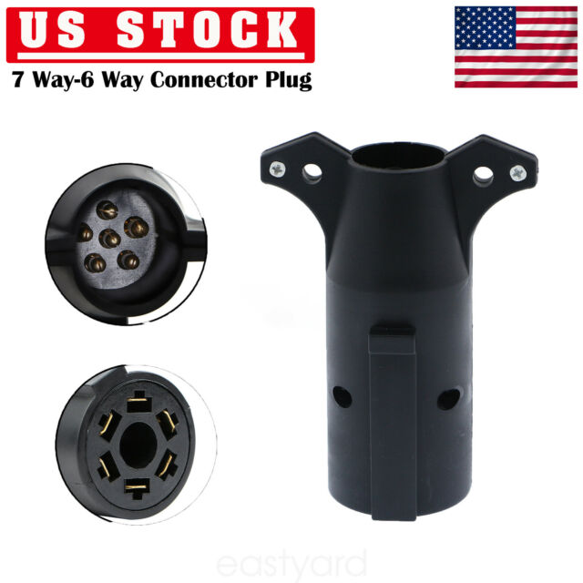 Diagram Rv Style 7 Way Round Light Plug Connector Trailer End 12v Fast Free Shipping Us