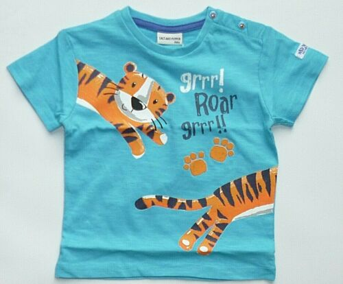 Salt and Pepper Jungen Kleinkind T-Shirt Tiger 74  Neu Musterkollektion