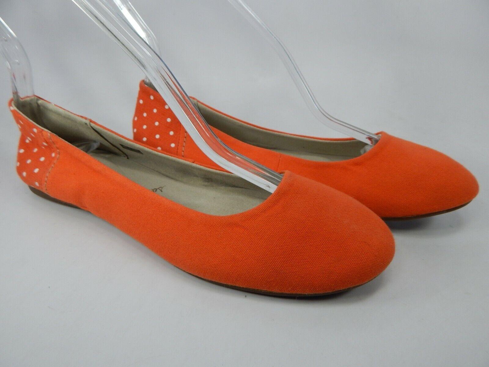 Sanuk Yoga Eve Size 7 M (B) EU 38 Women's Ballet Flats shoes orange SWF10603R