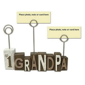 GRANDPA Photo Clip Picture Holder - Resin Desk Table Home Office Decor