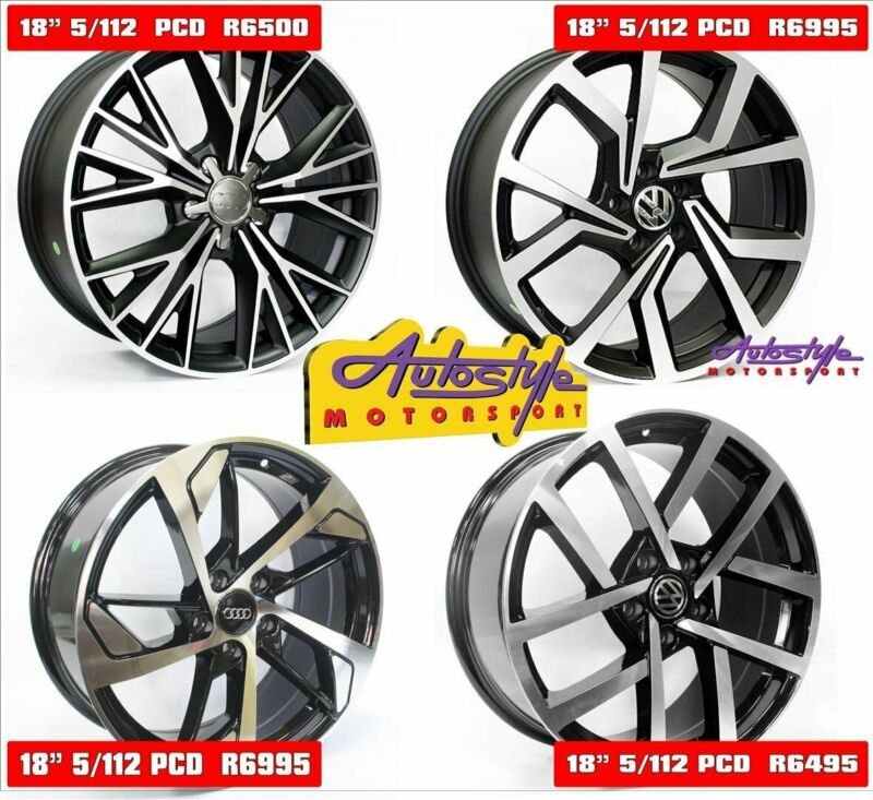 Mags alloy rims wheels suitable for VW Golf 5-6-7 and Audi 18 inch CT1205 5-112 Matt Black Wheels R6
