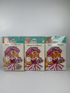Vtg 1992 Peppermint Rose American Greetings Party Lot 24 Invitations Envelopes