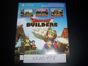 Details about Dragon Quest Builders Building Materials Code DLC Download  PS4 Playstation 4