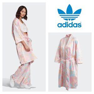 Adidas Originals Pink Tie Dye Robe Kimono Satin Pants Ebay