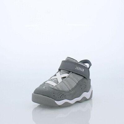 super popular d7f8a 0449a Air Jordan 6 Rings BT # 323420 014 Cool Grey Toddler SZ 4 - 10   eBay