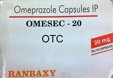 OTC OMEPRAZOLE 20mg 300 Capsules -Ranbaxy- TOP QUALITY -FREE SHIPPING WORLDWIDE
