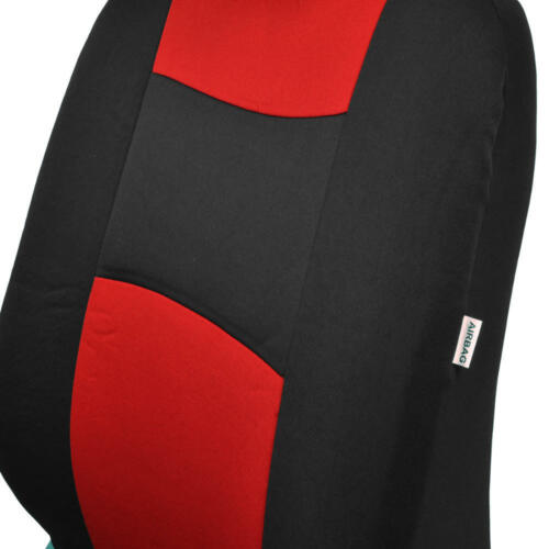 40//60, 50//50, 60//40 Red//Black Sporty Car Seat Covers with Split Bench Zippers