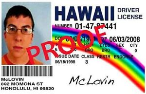 Shipping Identification Ebay Novelty ~ Free Mclovin Superbad