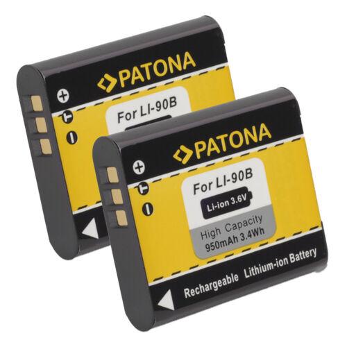 2x Batteria Patona 950mAh li-ion per Olympus Stylus XZ-2