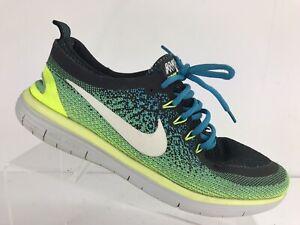 8c38b776729f0 Nike Free Run RN Distance 2 Blue Green Black Athletic Running Shoes ...