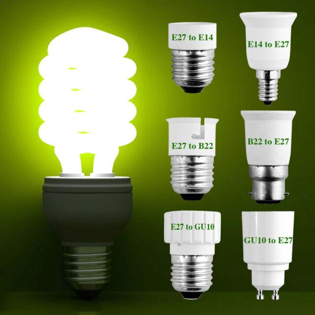 Base LED Light Lamp Bulb Adapter Converter Socket Extender For B22 E27 E14 GU10