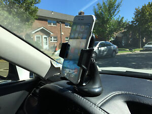 CAR LEATHER DASHBOARD WINSHIELD MOUNT HOLDER STAND FOR SAMSUNG GALAXY NOTE 4 5