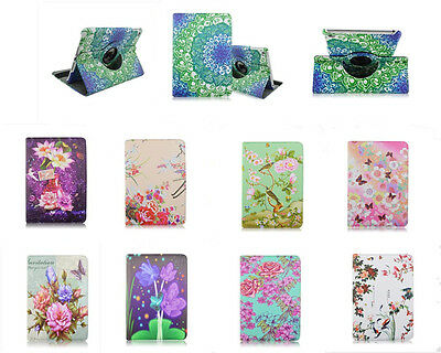 Beautiful Florals 360 Rotate Stand PU Leather Tablet Cover Case For iPad Mini 4