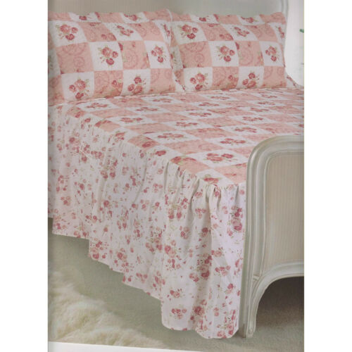 Traditional Vintage Quilted Fitted Bedspread Set Including Pillowshams Colorado