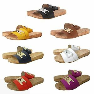 Michael-Kors-Womens-Warren-Slide-Casual-Open-Toe-Slip-On-Flats-Sandals-Shoes