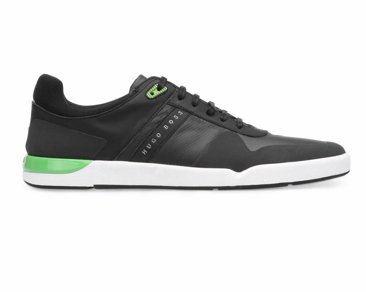 Hugo Boss Green FEATHER TENN SYC 50327385 001 Black Trainers