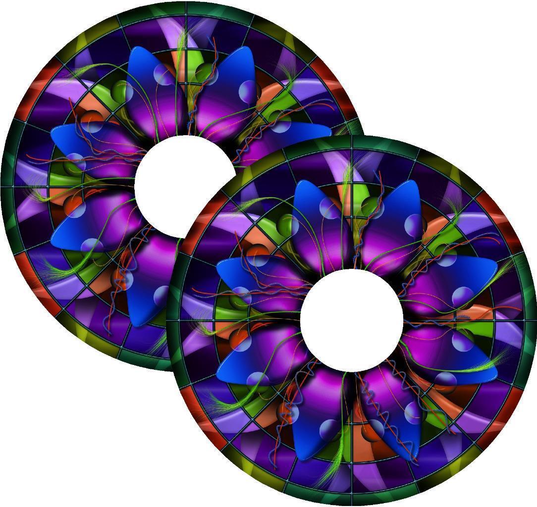 s l1600 - Cubrerradios para Silla de Ruedas Adhesivos Manchas Efecto Cristal Diseño