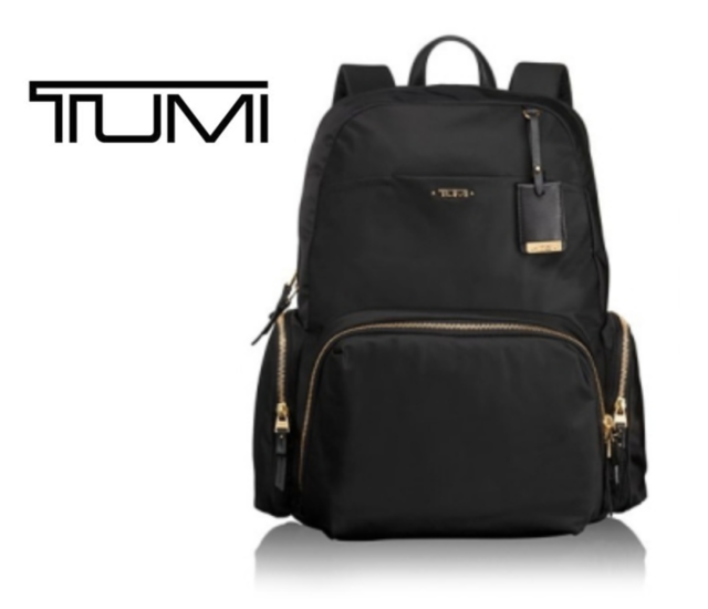 8c08a043d TUMI Voyageur Calais Backpack Black Color Backpack 0484707D with Free Gift