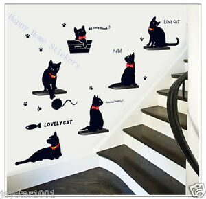 I-Love-CATS-Animals-ART-DECAL-Wall-Stickers-for-Children-039-s-Room-Stylish-Home