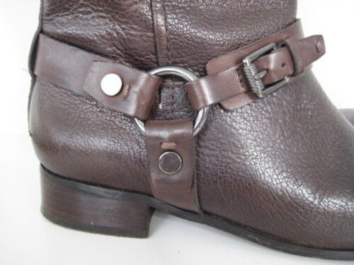 amp;s M Boots Buckle amp; Marks Biker Ankle Leather Brown 4 Autograph Flat Spencers zx8vqwT