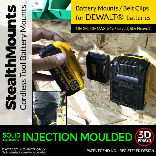 2x Stealth Battery Mounts For DeWalt XR Batteries Drilll Impact Driver 18v