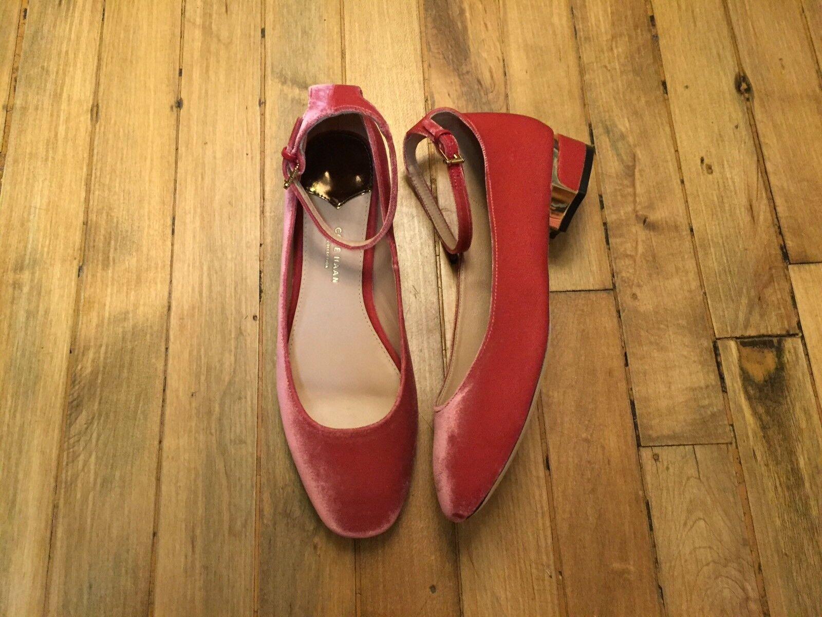 COLE HAAN COLLECTION ANKLE STRAP VELVET HEEL Schuhe NEU SIZE 7