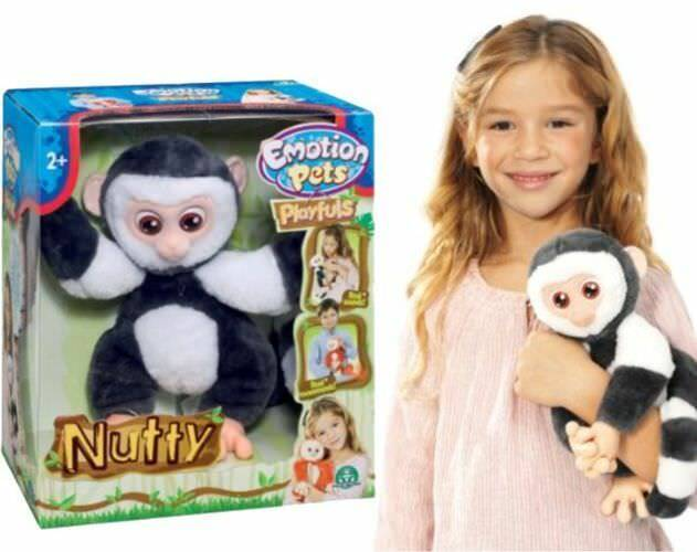 INTERACTIVE MASCOT MONKEY NUTTY EMOTION EMOTION EMOTION PETS 46b432