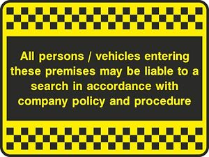 Persons-Or-Vehicles-Search-Sign-V6SECU0072-VAT-Invoice-Supplied