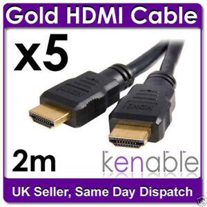 5-X-2m-HDMI-chapado-en-oro-para-el-Sky-Hd-Ps3-A-Tv-Cable-Lead