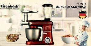 Kuechenmaschine-Ruehrmaschine-Knetmaschine-Teigkneter-3in1-6-5-2000-W-max-Rot
