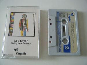 LEO-SAYER-LIVING-IN-FANTASY-CASSETTE-TAPE-1ST-PRESS-1980-PAPER-LABEL-CHRYSALIS