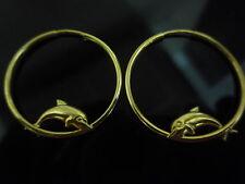 new placcato oro giallo orecchini argento dolphin cerchietti
