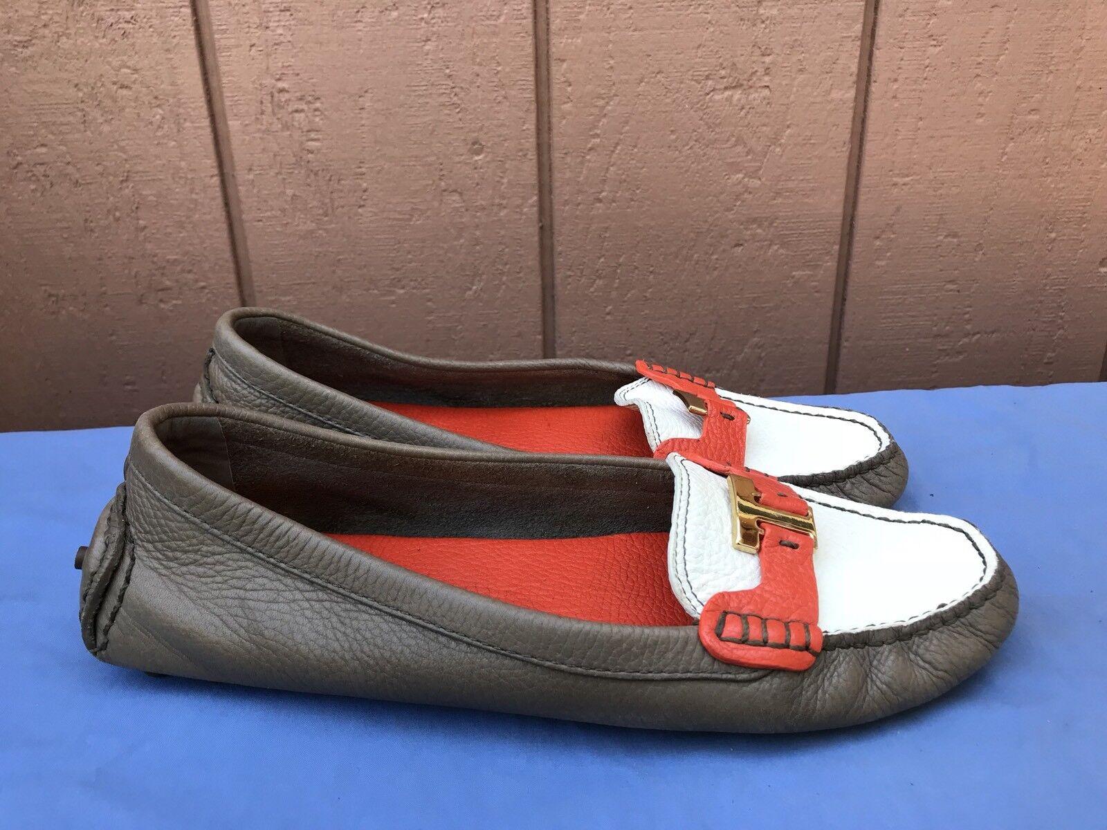 all'ingrosso a buon mercato EUC TORY BURCH BURCH BURCH  325 US 11M donna LEATHER DRIVING MOCS MOCCASINS scarpe A4  con il 60% di sconto