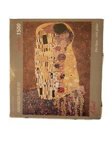 Puzzle-1500-Pezzi-Art-Stones-Bacio-Der-Kuss-whit-glitter-Klimt