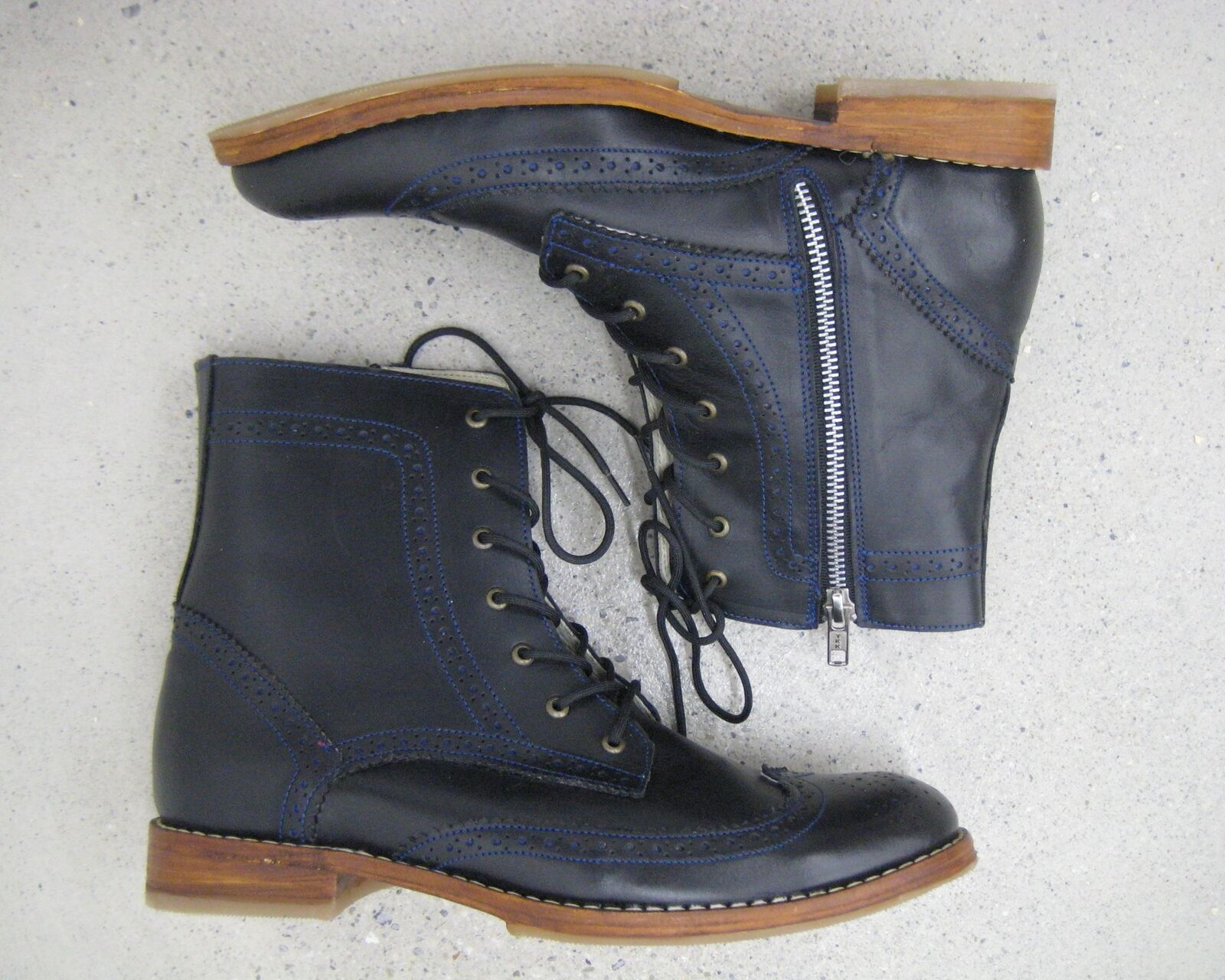 Mens Boots Black Leather Limited Collection Handmade New