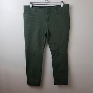 Banana-Republic-Womens-Olive-Green-Sloan-Curvy-Fit-Mid-Rise-Pants-Size-6-Petite