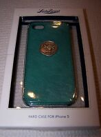 Lucky Brand Taurus Leather Hard Snap On Case For Iphone 5 Teal