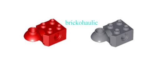 Lego Technic Brick Modified 2x2 w// Pin Hole Rotation Joint Ball Half Parts Lot