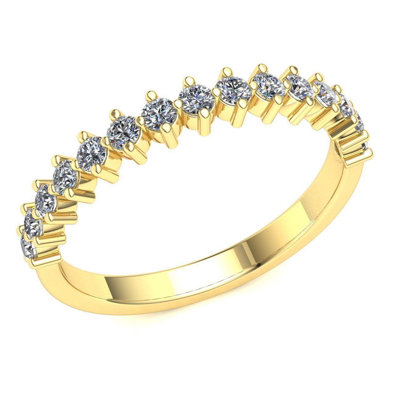 Natural 0.55ct Round Diamond Ladies Bridal Wedding Half Eternity Ring 10k gold