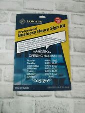Lokaus Professional Business Hours Sign Kit Window Decal Shop Sign New