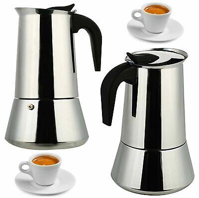 Moka EDELSTAHL Espressokocher Espresso Maker 6//9//12 Tassen Espressokanne Kaffee