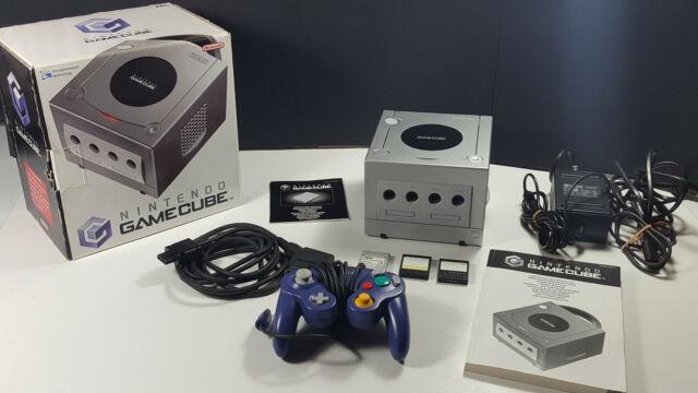Nintendo GameCube Konsole Boxed NGC OVP Set Sammlerstück w NEU Silber CIB VGC NM