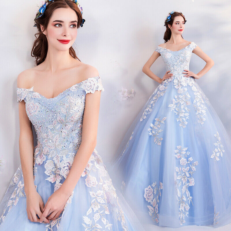 c6c52bb87ff2 Noble Evening Formal Party Ball Gown Prom Bridesmaid Embroidery Tail Dress  TY176