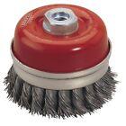 Draper 52633 Expert 100mm X M14 Twist Knot Wire Cup Brush
