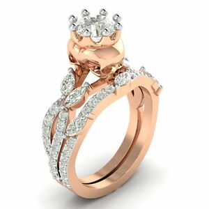 1 70 Ct Nature Inspired Skull Bridal Engagement Wedding Ring Sets