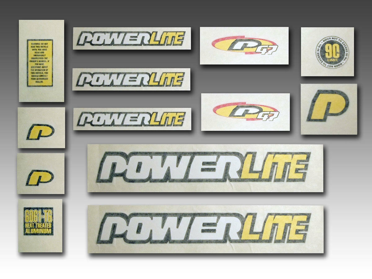 Original Old School BMX Bicycle  Powerlite P 47 Complete Decal Set  export outlet