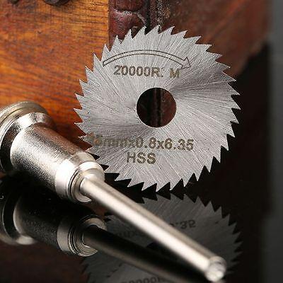 25mm HSS Metal Wood Sawing Blade Cut-off Wheel Blade Disc Mandrel Power Tool Set