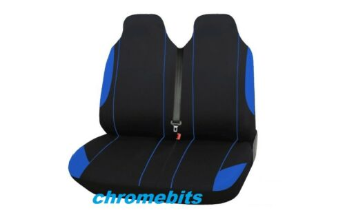 VW Transporter T5 2+1 Blue BLACK Single /& Double Soft Fabric Seat Covers