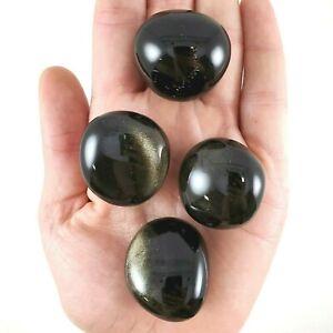 4pc-Golden-Sheen-Obsidian-Tumbled-Stones