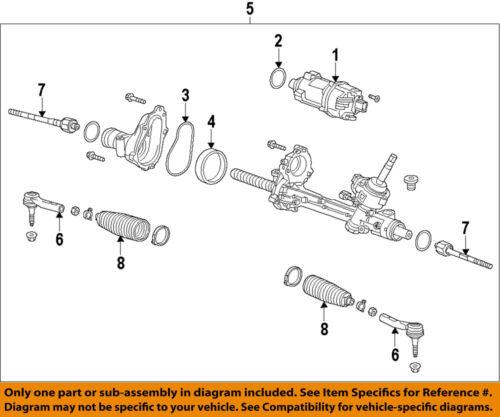 GM OEM Steering Gear-Inner Tie Rod End 22895377